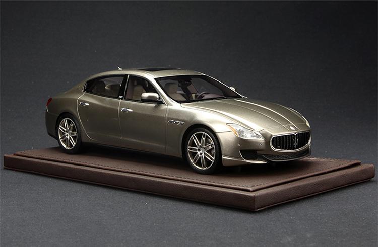 bbr 1:18 玛莎拉蒂quattroporte总裁系列杰尼亚限量版 手工树脂车模