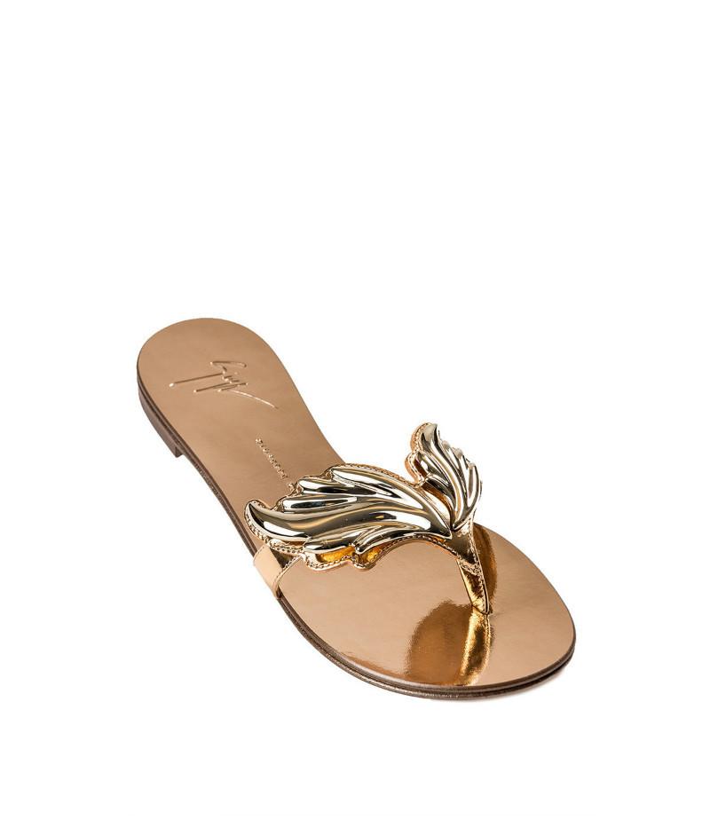 giuseppe zanotti/朱塞佩·萨诺第 女士镜面皮平底凉鞋 e60287-64925