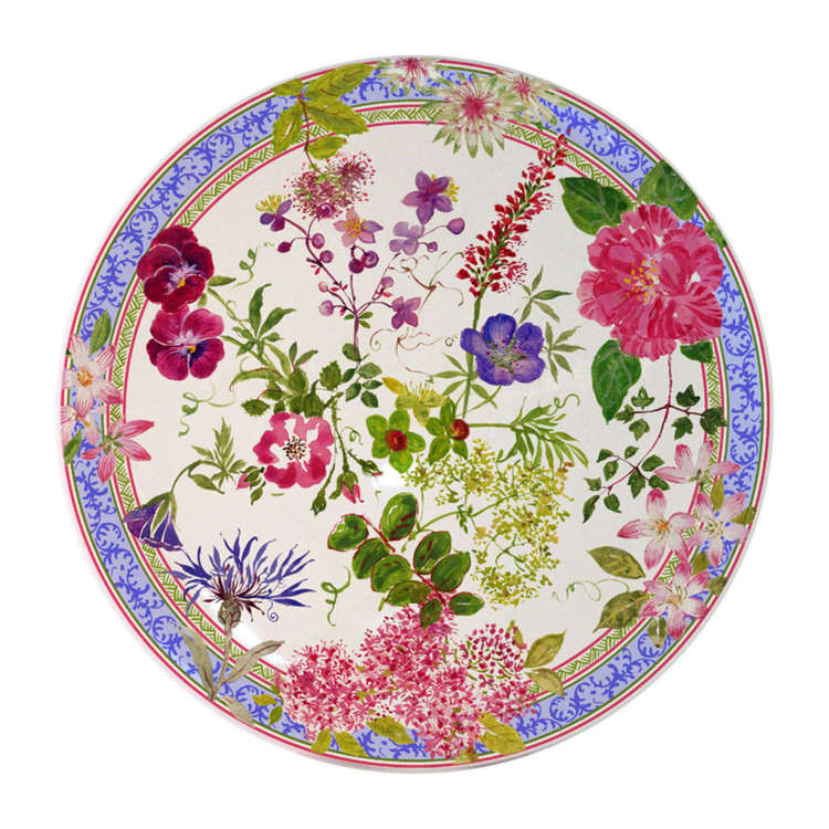 【designer lifestyle】gien 法国皇家手工陶瓷 万紫千红-蛋糕圆托盘