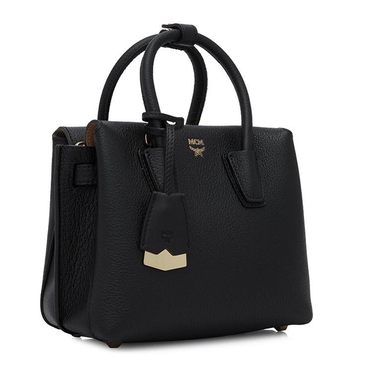 CM MCM 女士黑色手提包