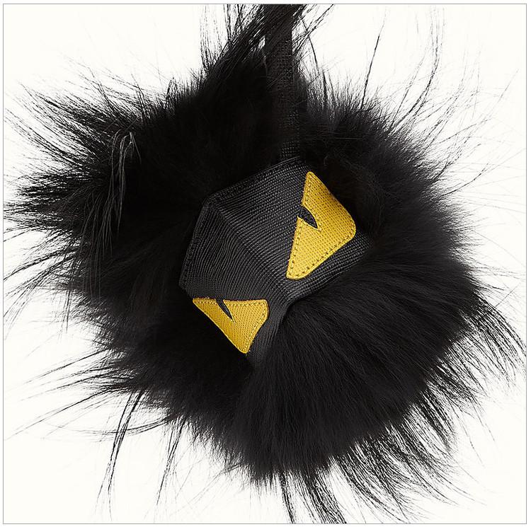 【包税】fendi 芬迪 新款女士时尚黑色小怪兽挂件