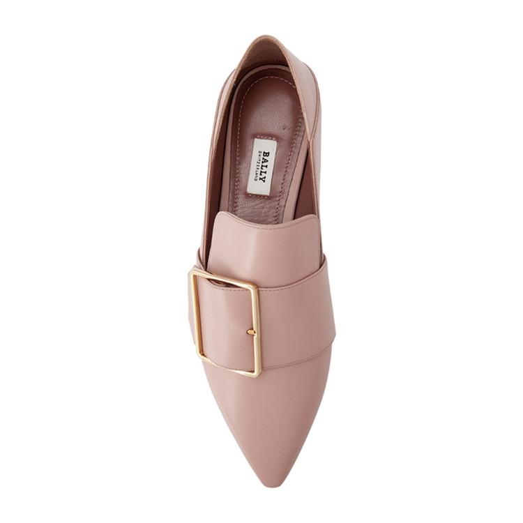 利�9.���zh�c._bally/巴利hamelia flats女士小牛皮尖头一脚蹬平跟鞋 6223322