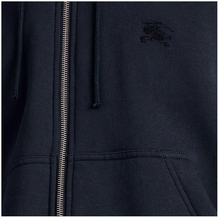 BURBERRY/博柏利 20秋冬 男装 服装 男士深蓝经典格纹装饰平织连帽上衣 男士夹克外套