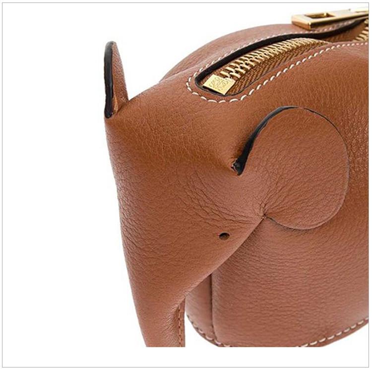 【包税】loewe 罗意威 女士糖果色牛皮小象零钱包