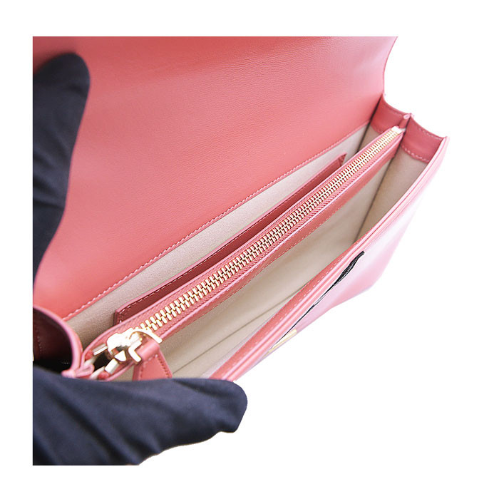 pinko/品高 女士粉色头层牛皮翅膀刺绣 经典燕子logo单肩链条包 1p20x