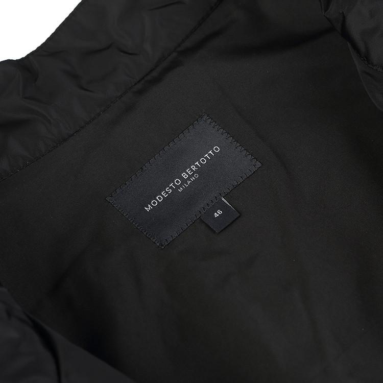 modesto bertotto/博图 黑色中空棉系列网眼中空棉拼接夹克 后片面料