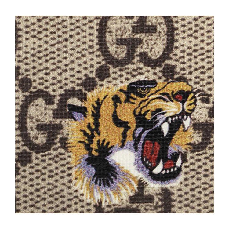 gucci/古驰 bestiary系列虎头印花图案设计经典色pvc/配皮男士短款