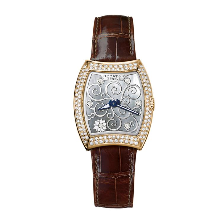 Bedat&Co/宝达家3号系列女士酒桶形石英腕表,316型号
