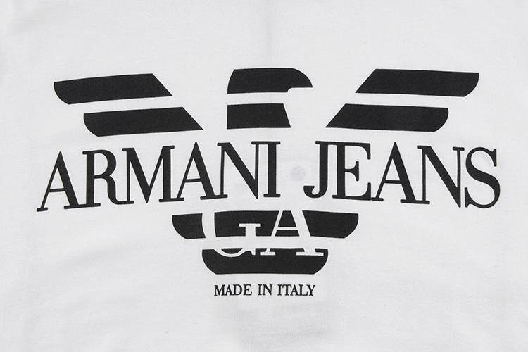 armani jeans/阿玛尼牛仔 男士长袖t恤 95.00%棉 5.