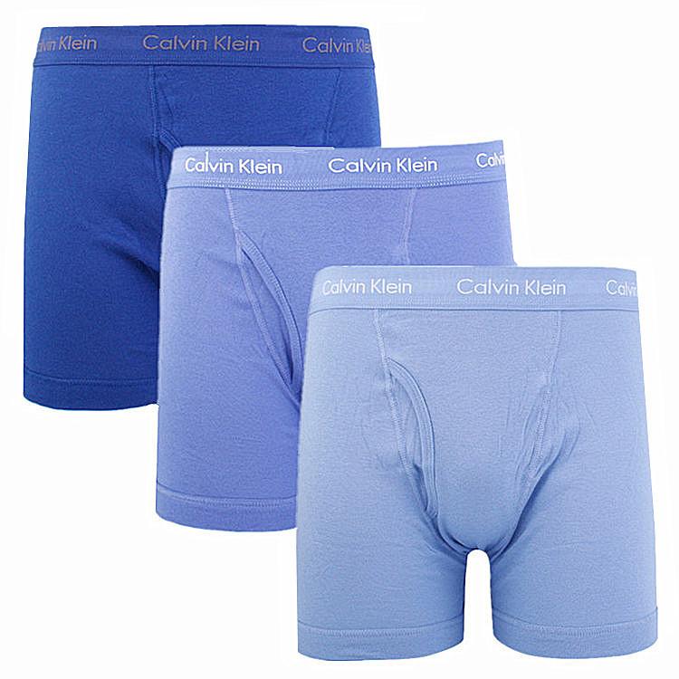 calvin klein/卡爾文·克萊因 ck男士內衣/男士平角內褲三條裝圖片