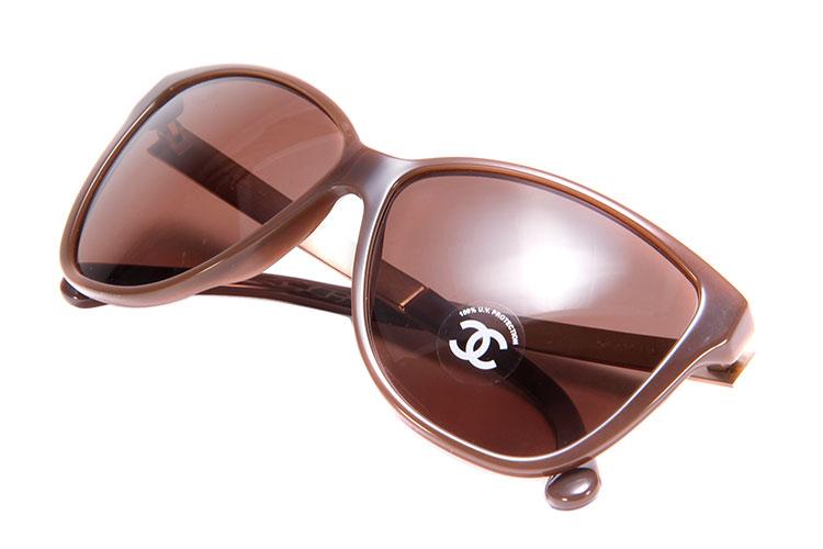 chanel(香奈儿) 棕色马赛克太阳镜