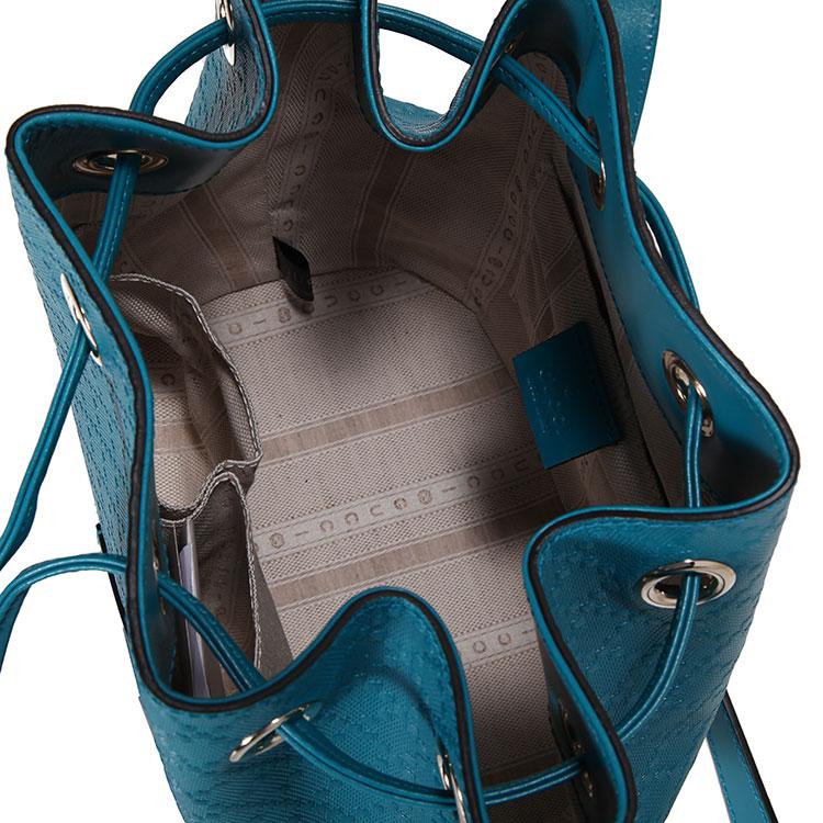 #孔雀蓝色pvc压纹水桶包
