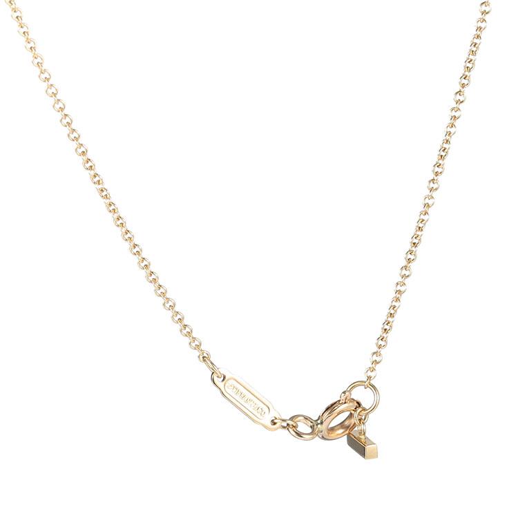 Tiffany Co. 蒂芙尼 Tiffany T系列18k黄金笑脸项链