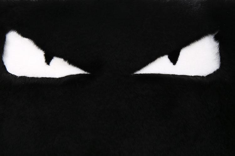 黑色小怪兽獭兔毛