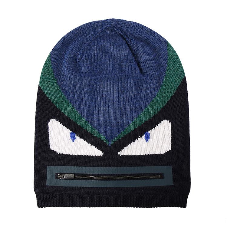 fendi(芬迪) 蓝色底白眼睛帽子