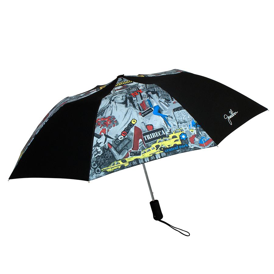 leighton umbrellas 自由女神像拼贴画雨伞