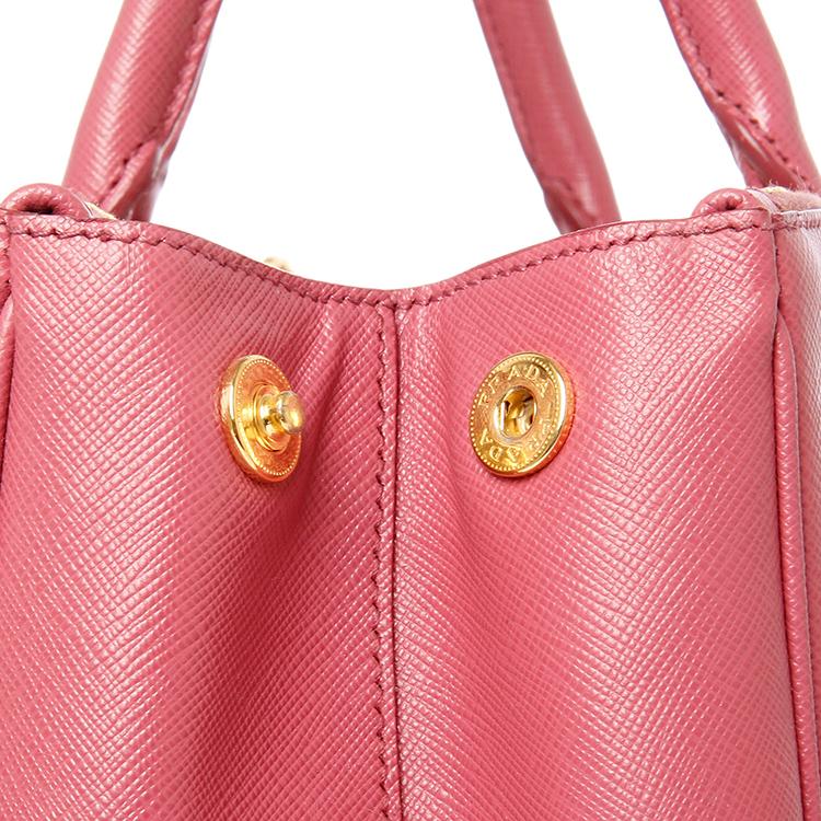 prada(普拉达) 暗粉色皮质手提包