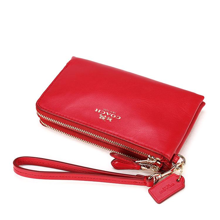 coach(蔻驰) 红色皮质零钱袋