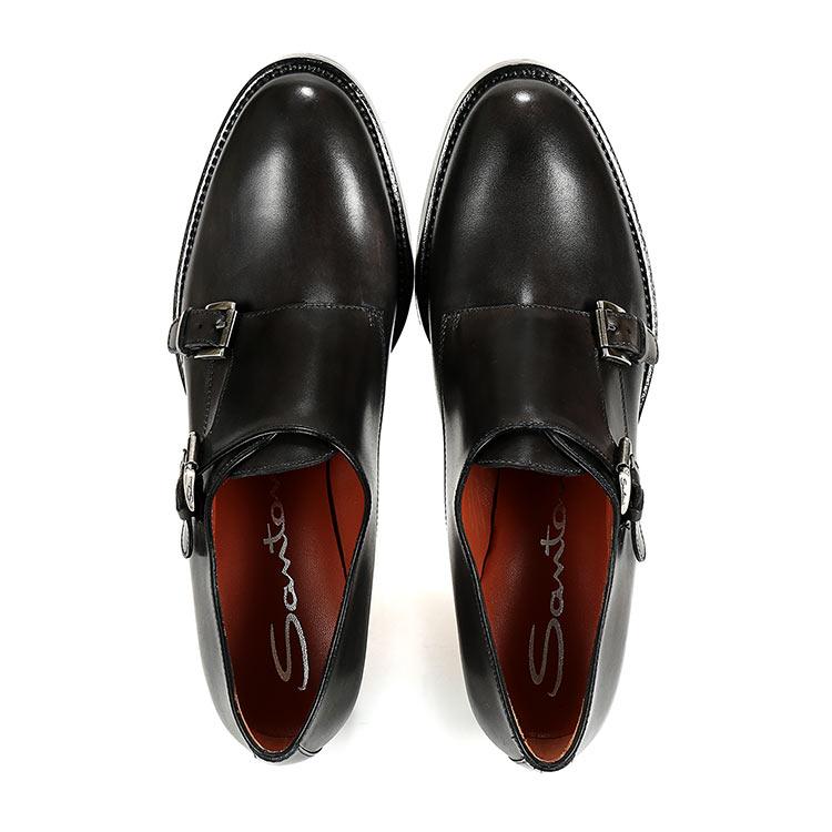 【SANTONI圣东尼 平跟鞋】SANTONI女士黑色
