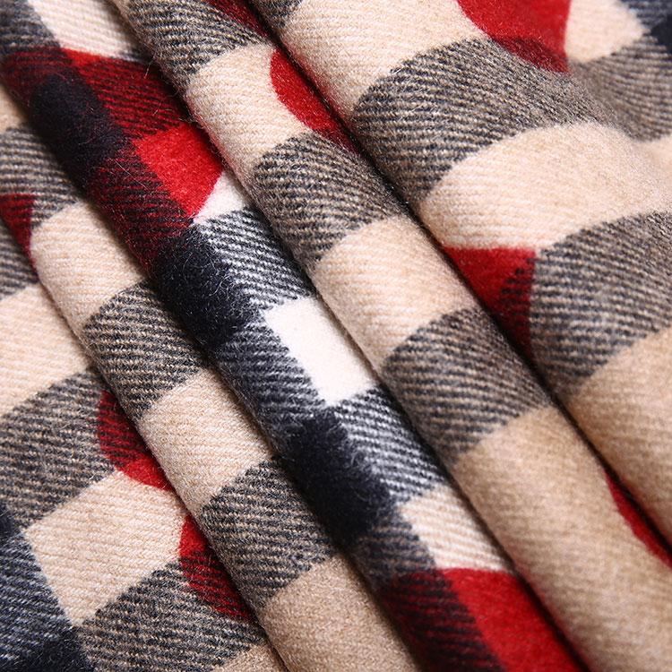 burberry(博柏利) 红色心形图案经典格纹羊绒围巾168 x 30cm图片
