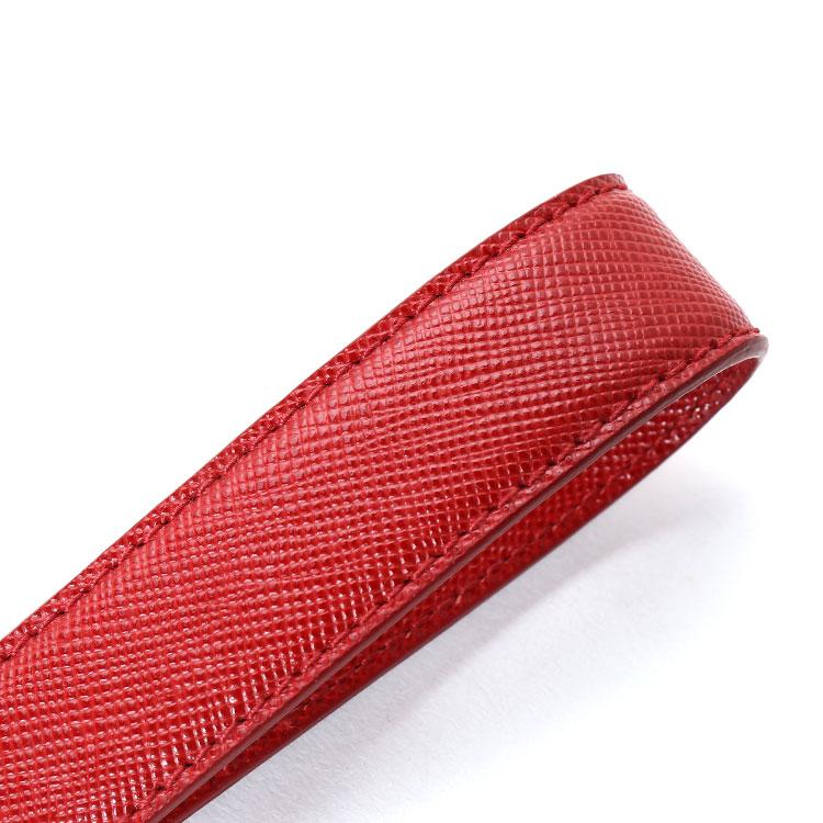 prada(普拉达) #红色皮质钥匙挂环