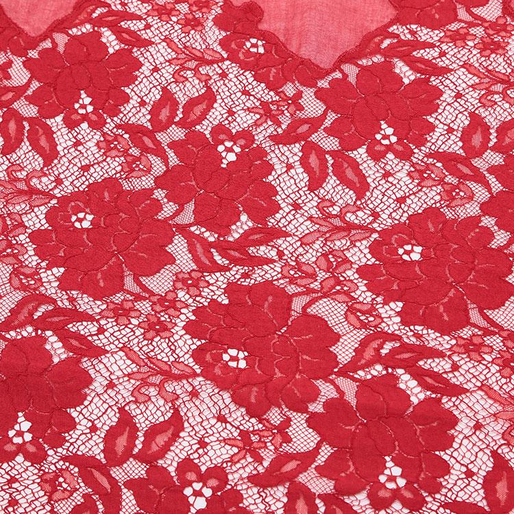 #红色蕾丝装饰女士丝巾/披肩
