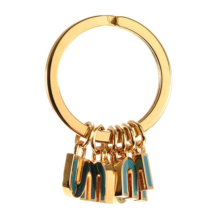 miumiu(缪缪) 金色logo钥匙圈