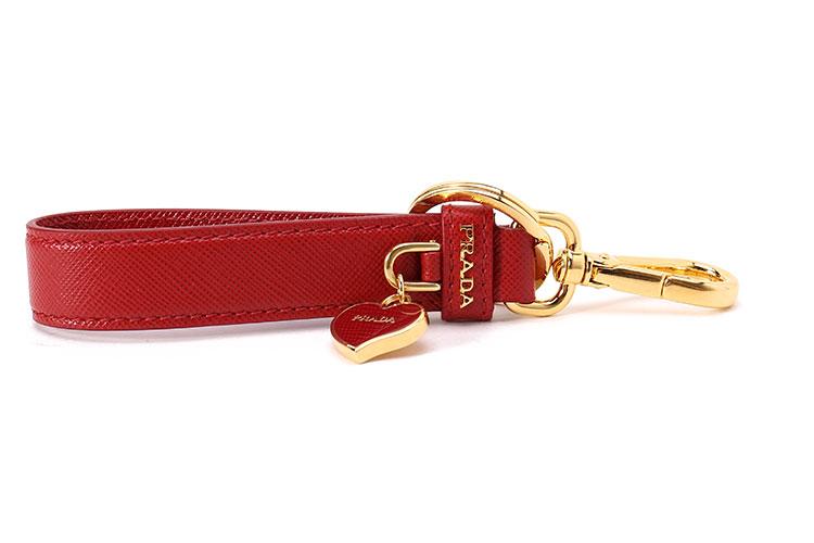 prada(普拉达) #红色皮质钥匙环