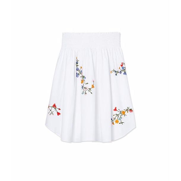 白色花朵素材刺绣