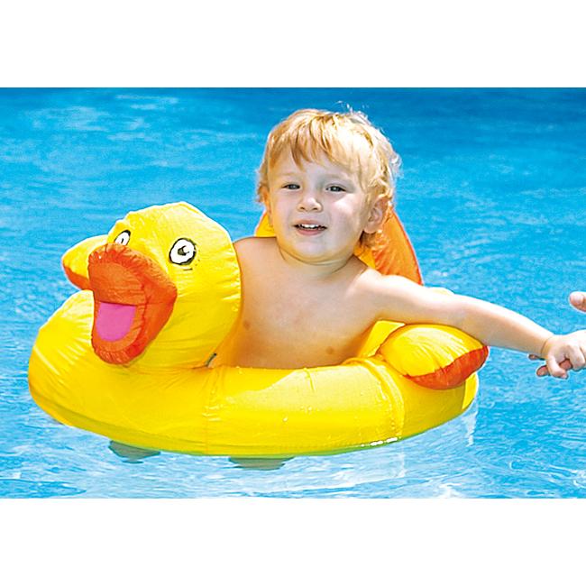 swimline ducky seat 鸭子造型儿童充气泳圈