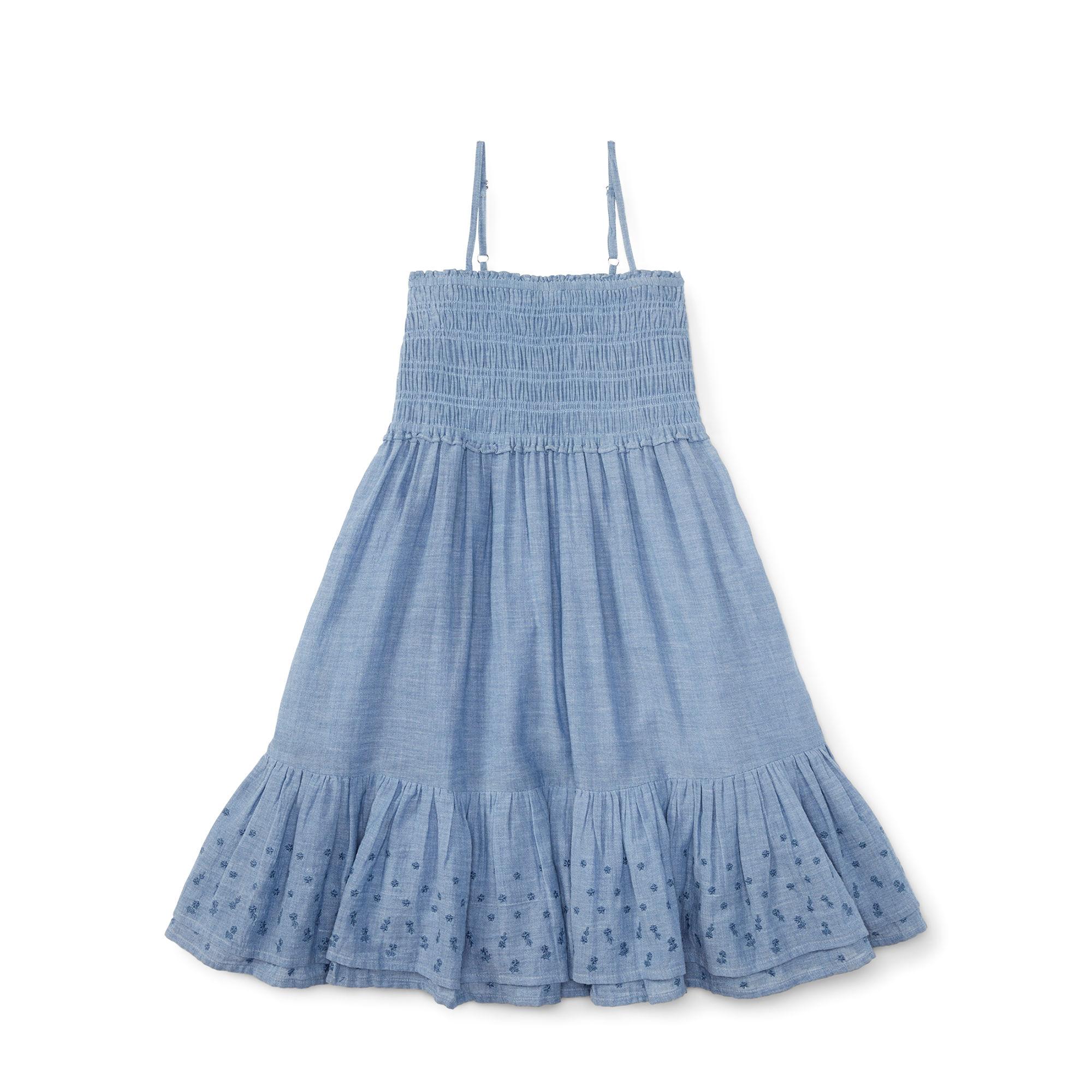 polo 拉夫劳伦女童薄型牛仔吊带连衣裙