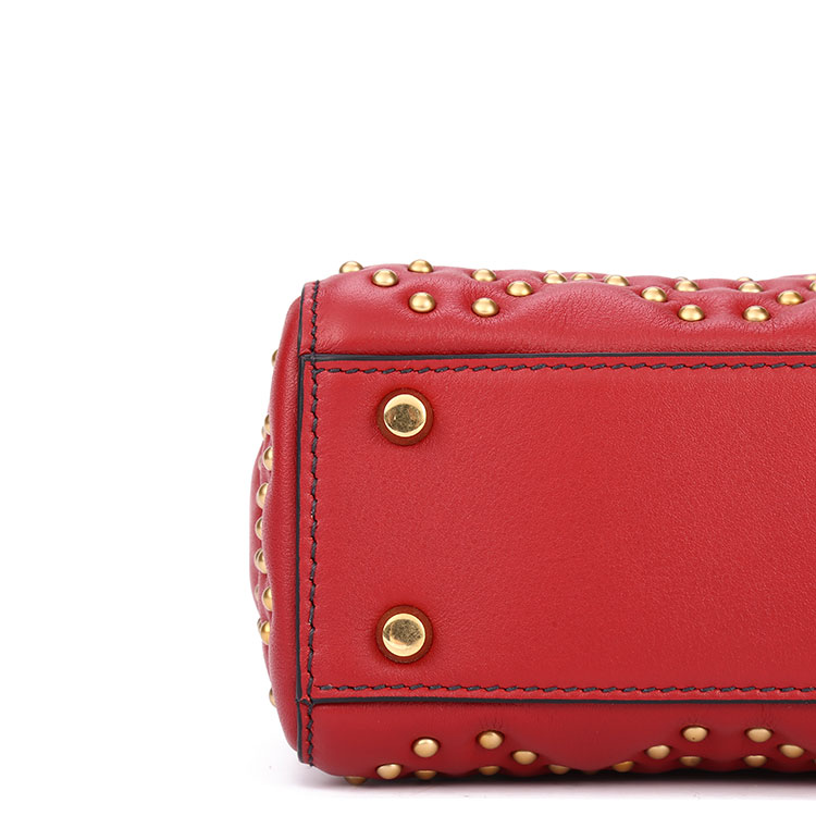 dior(迪奥) #dioramour红色皮质七夕限量款手提包/戴妃包
