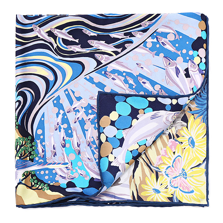 hermes(爱马仕) 彩色动物/星空图案丝巾90图片