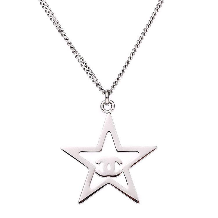 chanel(香奈儿) 五角星水钻吊坠项链