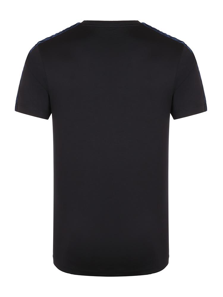 Emporio Armani 藏蓝色 男士鹰Logo徽标棉质圆领短袖T恤 6G1TE4-1JPRZ-0922 19年秋冬