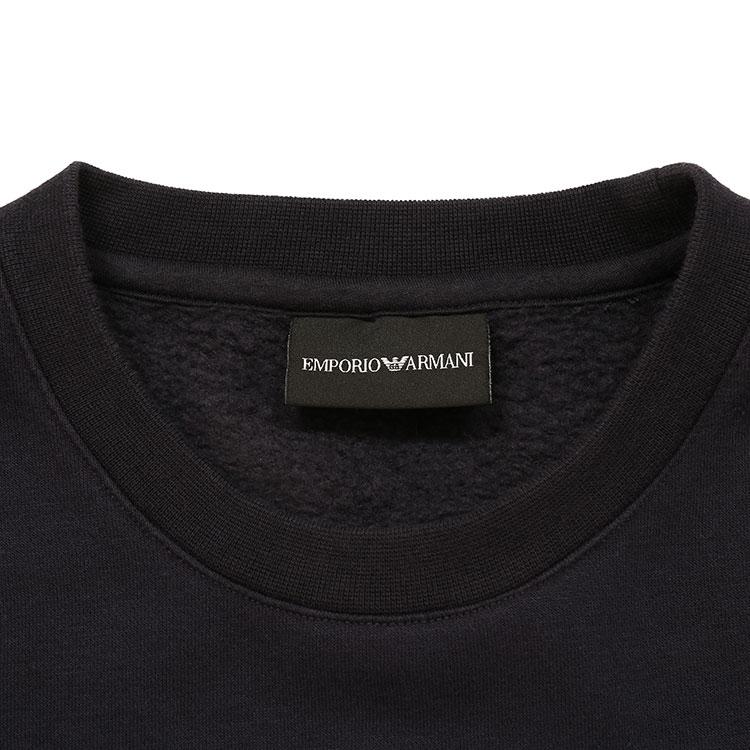 Emporio Armani/安普里奥阿玛尼 藏蓝色 男士红色字母标识刺绣装饰圆领卫衣 6G1MC9-1JQPZ-0922 19年秋冬