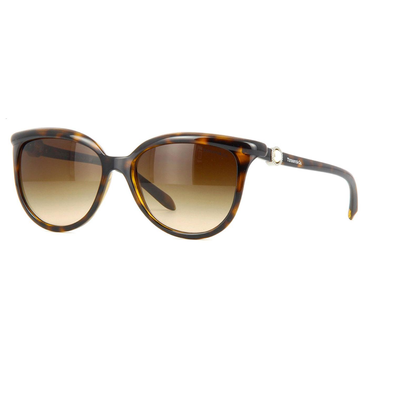 蒂芙尼 高端大气深雪茄色太阳镜子墨镜棕色渐变镜片 0tf4093h-80153b