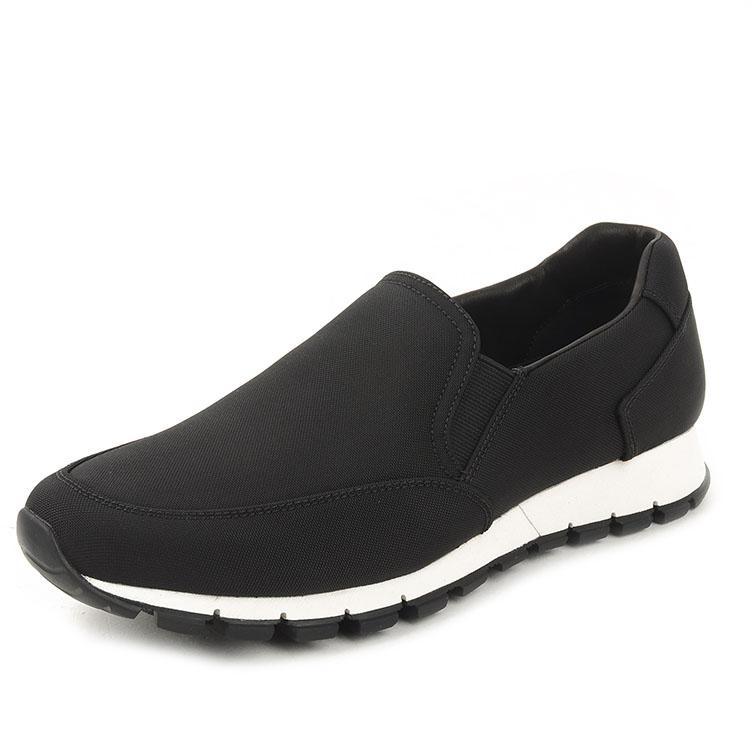 prada/普拉达男士黑色运动鞋