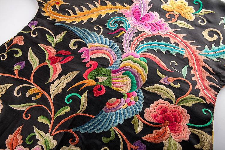 ian 若莲 凤穿牡丹苗绣满幅手工刺绣长袖春秋女士外套图片