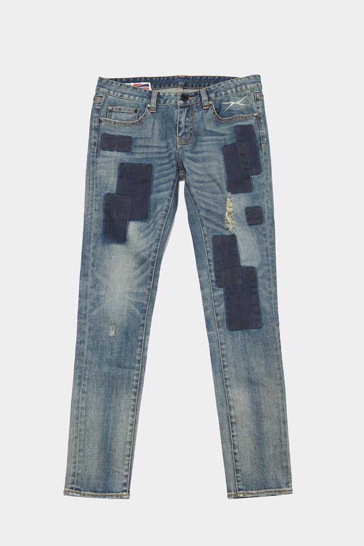 女士裤子新欹d�9/)�(�_d-mop blues heroes/blues heroes女士裤子女装梭织牛仔裤