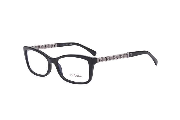 chanel/香奈儿眼镜框架 3264-q女士全框近视镜 新款羊皮金链光学镜 光
