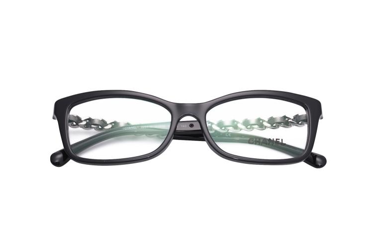 chanel/香奈儿眼镜框架 3264-q女士全框近视镜 新款羊皮金链光学镜