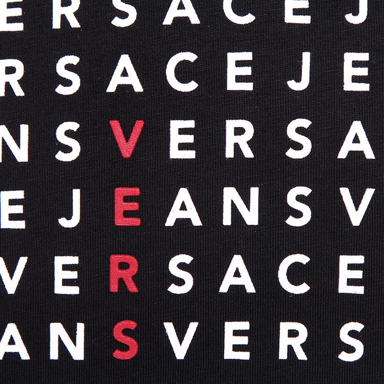 versace jeans/范思哲牛仔 圆领纯棉字母印花短袖t恤 b3gla748 36591