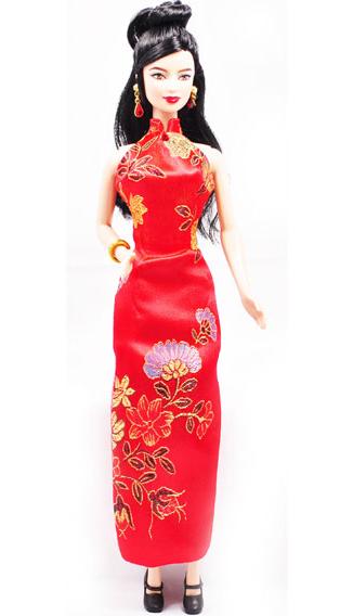 barbie/芭比娃娃 旗袍芭比 限量版世界芭比之中国