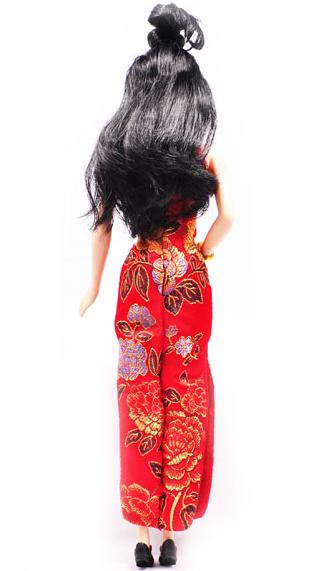 做娃娃的旗袍步骤