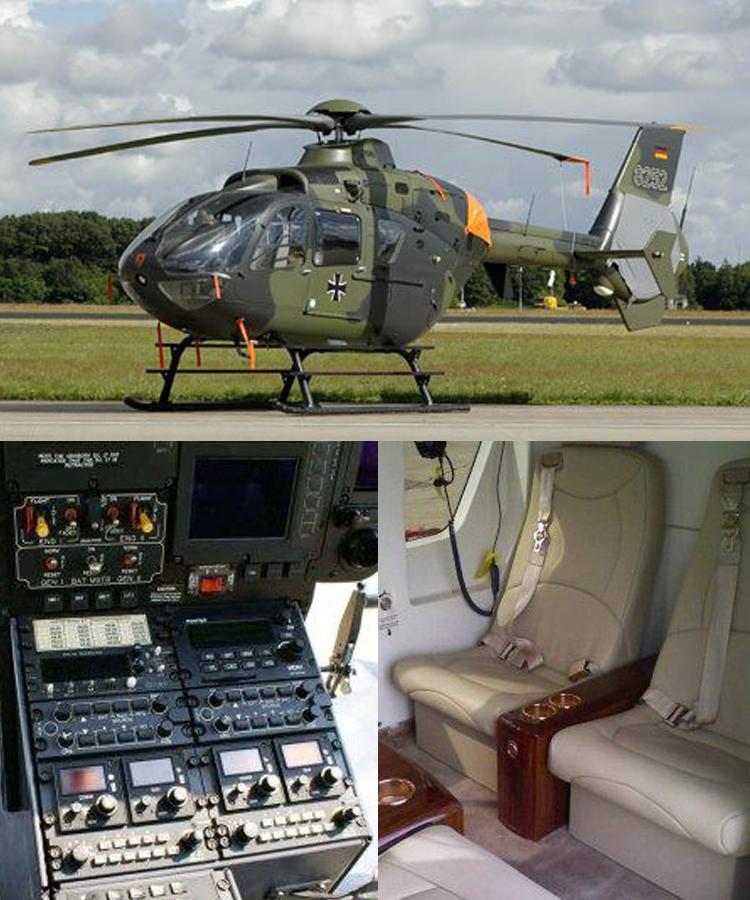 私人飞机】ec135(8座)直升机
