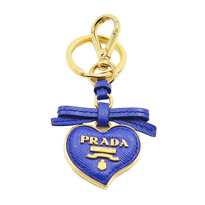 prada/普拉达 蓝色心形钥匙扣