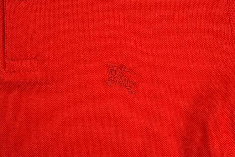 burberry/博柏利 男士春夏纯色logo图案polo t恤 红色 m