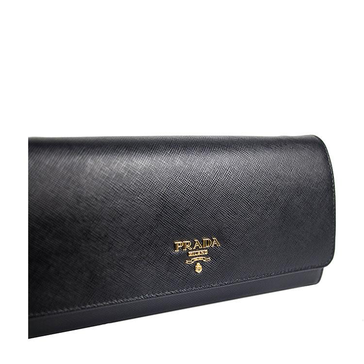 PRADA/普拉达  黑色钱包式单肩包