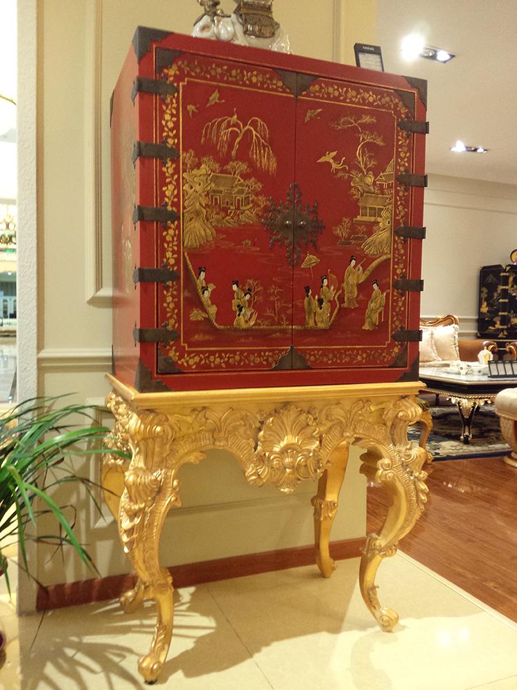 意大利风格设计 纯手工精雕手绘柜 金其利高端家具定制